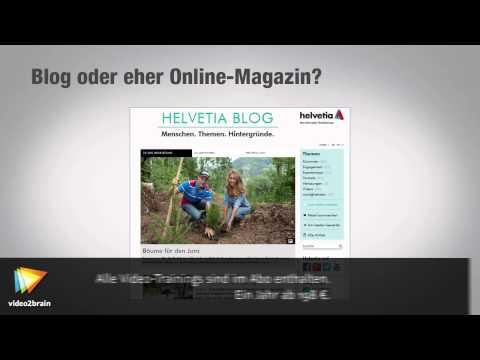 Corporate Blogs Tutorial: Blog-Design |video2brain.com