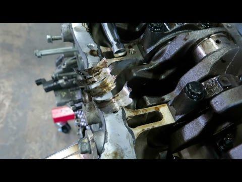 Engine failure Spun bearing