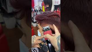Red Hairs Side Fade Short Haircut ✂️ Video For Men