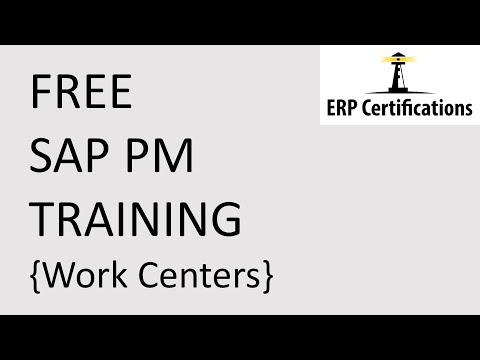 SAP PM Work Centers - Free SAP PM Tranining
