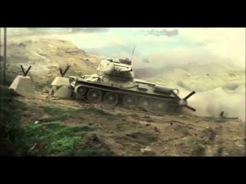 二战场面 向T34开火