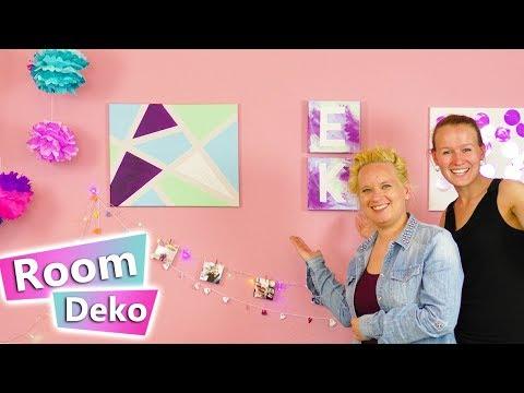 3 DIY IDEEN fürs Zimmer   Studio neu gestalten mit Leinwänden, Pompoms,  Lichterketten tesa Werbung*