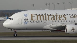 (4K) Autumn Afternoon Spotting at Munich Airport (A380, A350, B747)