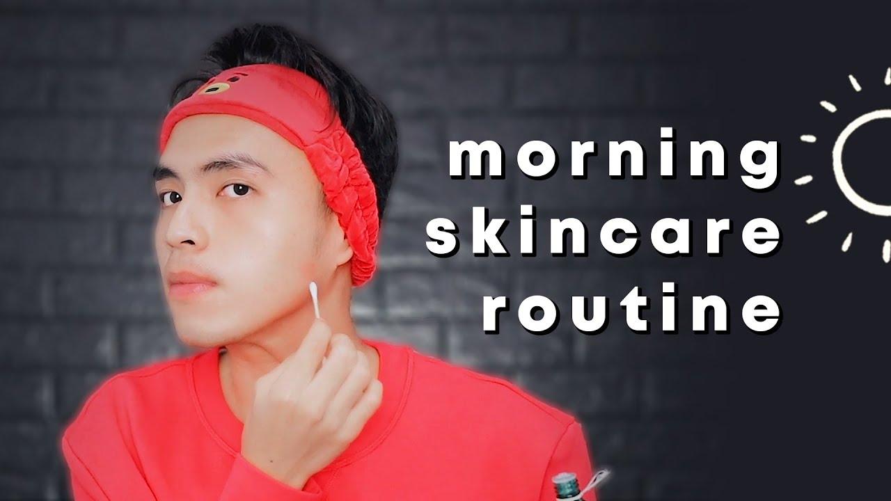 skincare routine cowok pagi berjerawat remaja pengangguran