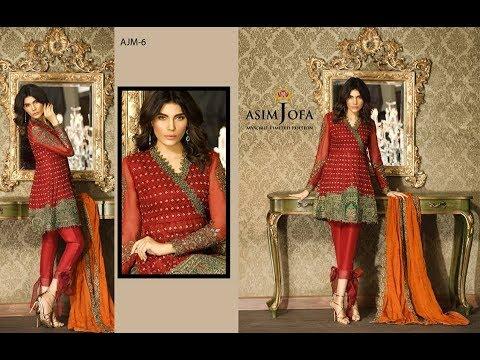 a060aa93ee Pakistani Fancy Dresses Asim Jofa Mysorie Chiffon Collection 2017 ...