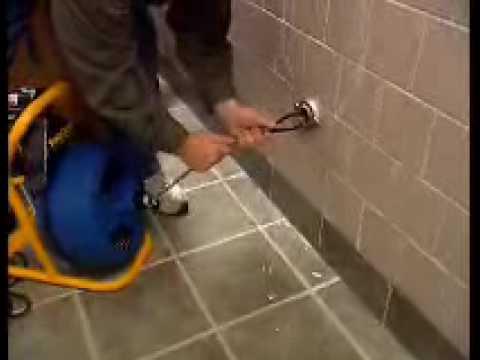 Sloan Waterfree Urinal Installation