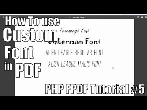 How To Use Custom Font In PDF | PHP FPDF Tutorial #5