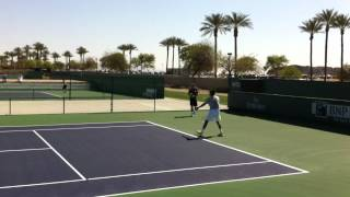 2012 BNP Paribas Open Indian Wells Jo-Wilfried Tsonga Practice 3.10.12