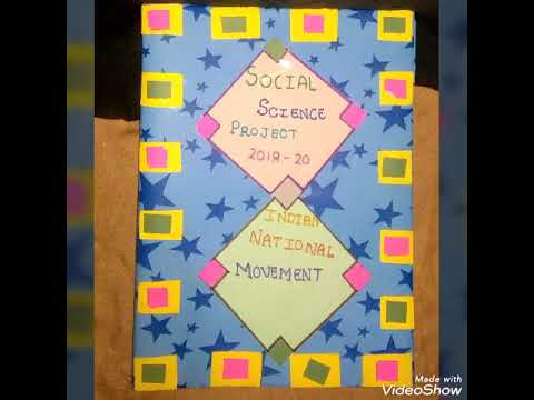 How To Make A Cover Page Handmade For Project Handmade Sushmasingh Youtube