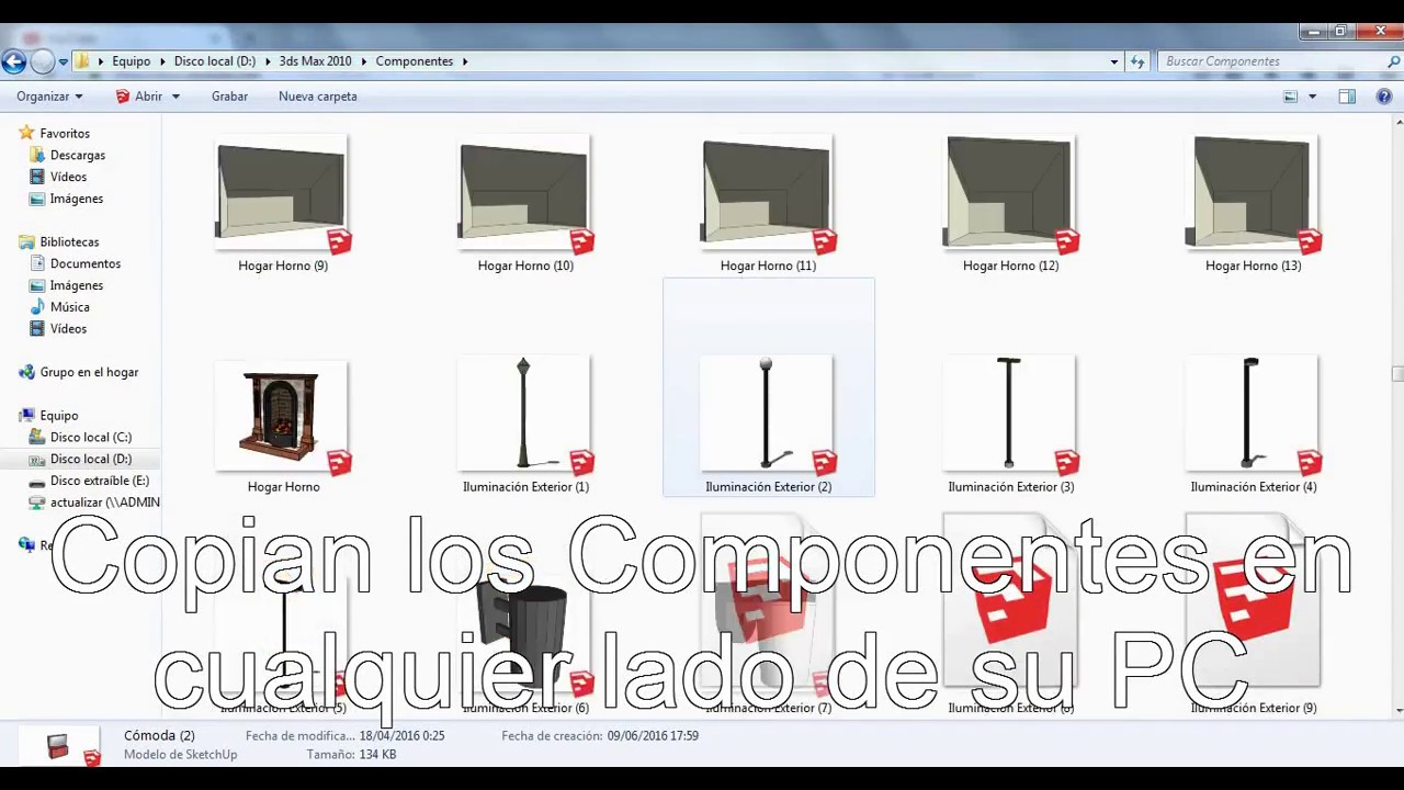 componentes para sketchup 8