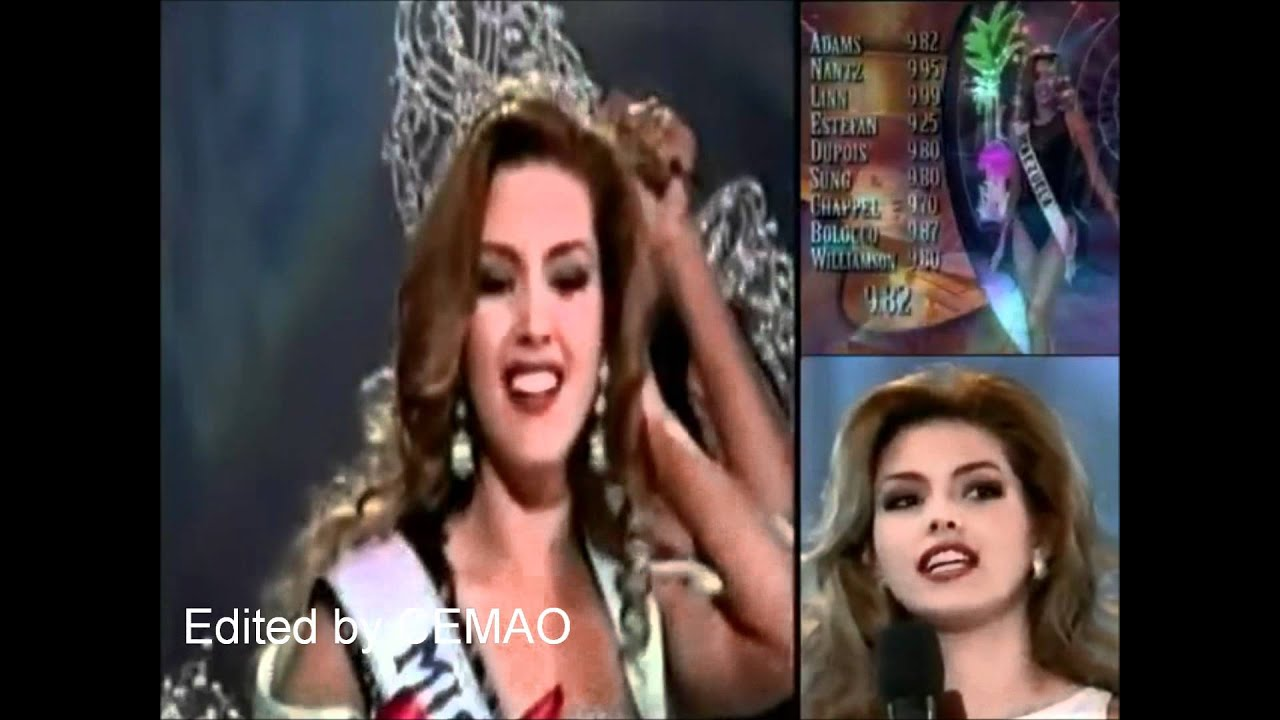 ... Machado ( Venezuela ), Miss Universe 1996 - Crowning Moment - YouTube