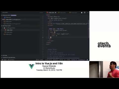 "[otech.events] ""Intro to Vue.js"" - German Gamboa Gonzalez -  - Vue.js Orlando thumbnail"