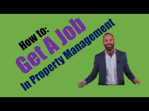 How To Get A Job In Property Management