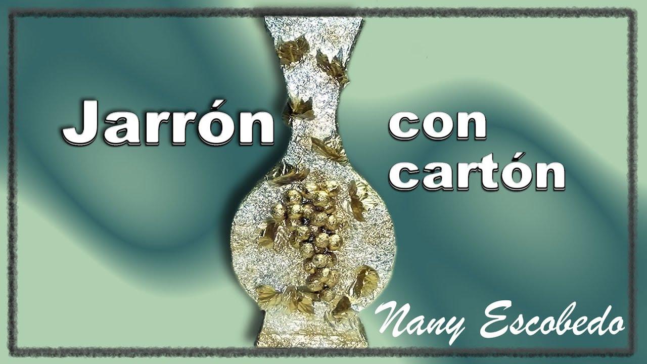 JARRN CON CARTN VASE WITH CARDBOARD YouTube