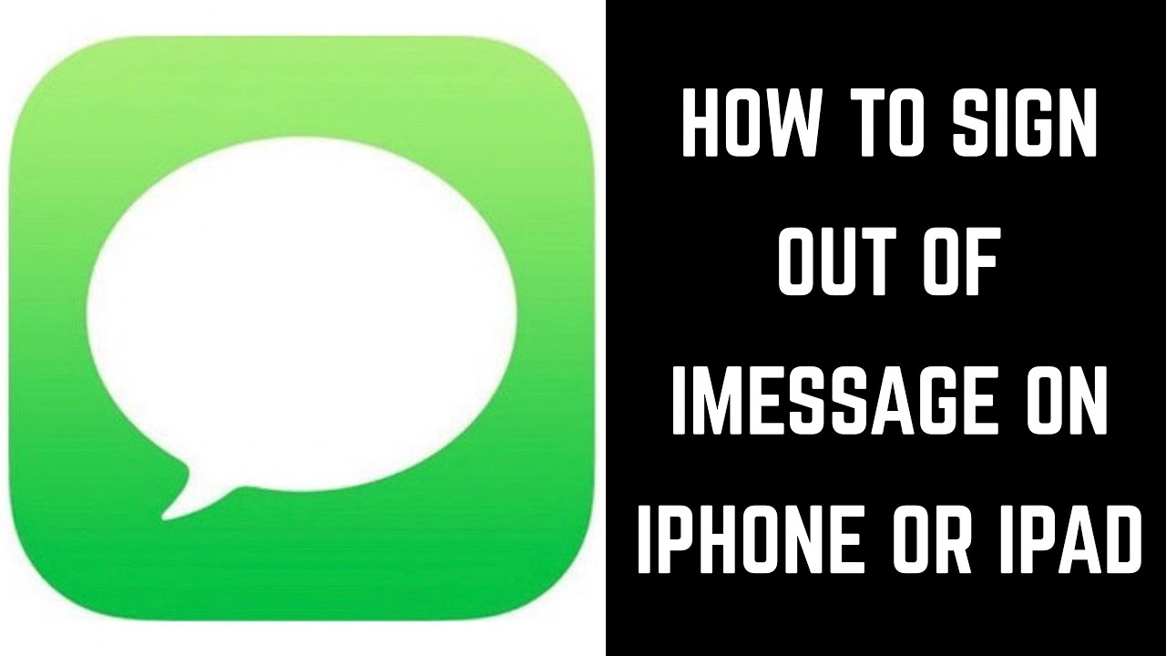 How to logout of messages on ipad