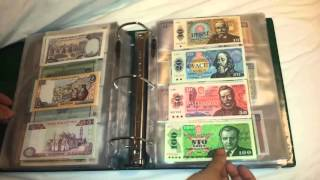 My Full Paper Money World Currency Collection As Of March 2016 Part 1