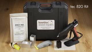 Servisní kufr pro opravu suků a vad dřeva TEC 820 KIT