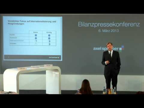 Mathias Döpfner auf der Bilanzpressekonferenz 2013