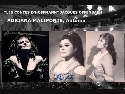 """Adriana Maliponte Sings """"Elle A Fui, La Tourterelle"""", Les Contes D'Hoffmann"""