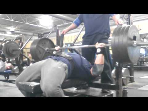 Chad Dresden Bench Press 405 for 7 reps