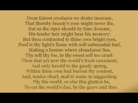 Shakespeare's Sonnets - Sonnet 1: From Fairest Creatures We Desire Increase
