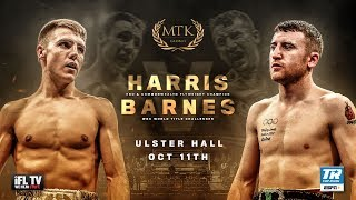 LIVE PROFESSIONAL BOXING - MTK GLOBAL PRESENTS HARRIS v BARNES (EUROPEAN & COMMONWEALTH) - BELFAST