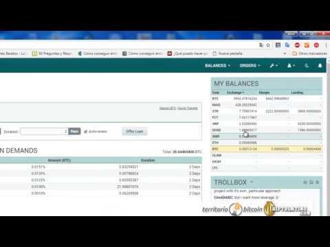Cómo funciona lending margin trading en Poloniex