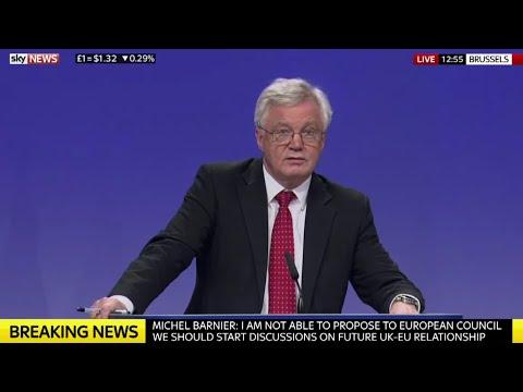 David Davis & Michel Barnier Press conference after fifth round Brexit talks w/Q&A