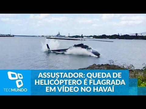 Assustador: Queda De Helicóptero é Flagrada Em Vídeo No Havaí
