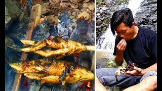 Survival Skills | Hunting and cooking freshwater fish on the tropical river