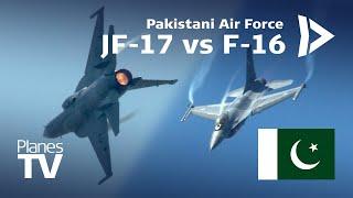 Pakistan F-16 Falcon vs JF-17 Thunder Airshow Display