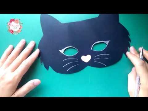 Mĩ thuật 3: Chủ đề 2 – MẶT NẠ CON THÚ – Mặt Nạ Mèo Mun // How to Make Cat Mask //Thảo Trần
