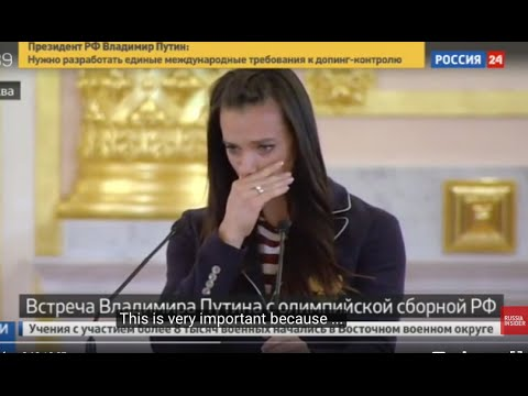 WOW: Isinbayeva cries in front of Putin for the Olympics' injustice against Russian sportsmen
