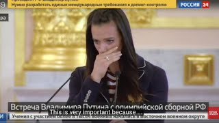 WOW: Isinbayeva cries in front of Putin for the Olympics