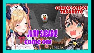 Yuzuki Choco Chill Minecraft Stream Turn Into Rescue Mission To Save Subaru [Hololive/Eng Sub]