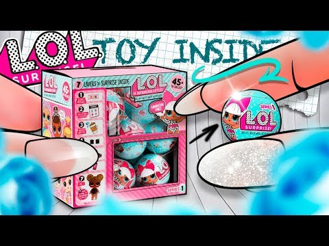 DIY Miniature LOL Surprise Doll Blind Bags - DOLL INSIDE! Full Case Unboxing Series 1
