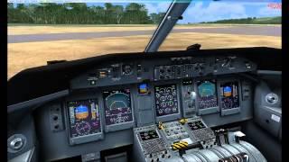 "Bombardier DHC Q-400 landing at Molokai airport [MKK/PHMK] ""FSX"""