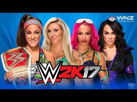 WWE WrestleMania 33: Bayley vs. Sasha Banks vs. Charlotte Flair vs. Nia Jax | WWE 2K17 Simulación
