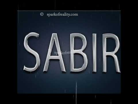 Sabir Name Shayari wats aap status