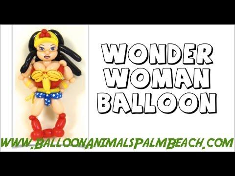 How To Make A Wonder Woman Balloon - Balloon Animals Palm Beach