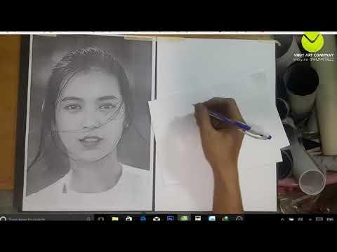 02- Vhuy – Vẽ Chân Dung AZ- Bai 2 : dựng hình chân dung