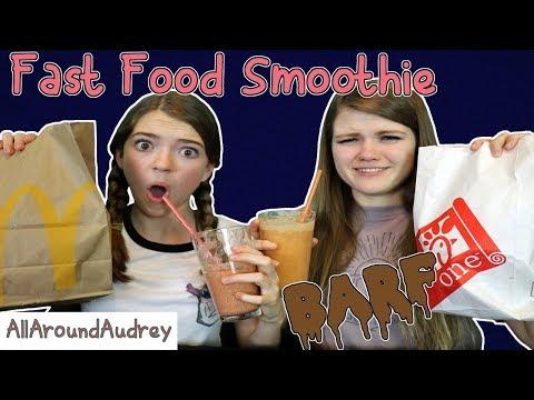 FAST FOOD SMOOTHIE CHALLENGE! / AllAroundAudrey
