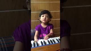 Yashfa is singing a song