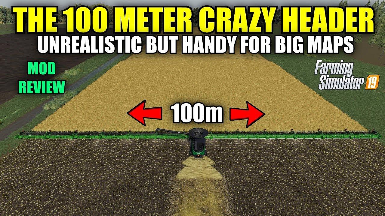 100 Meter Crazy Header v1 0 (Multifruit) Mod Review