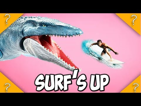 Does the SURFER die by the Mosasaurus