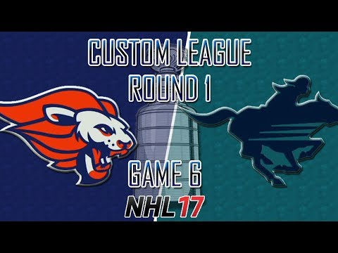 NHL 17 - Custom League - Baltimore @ Calgary Round 1 Game 6