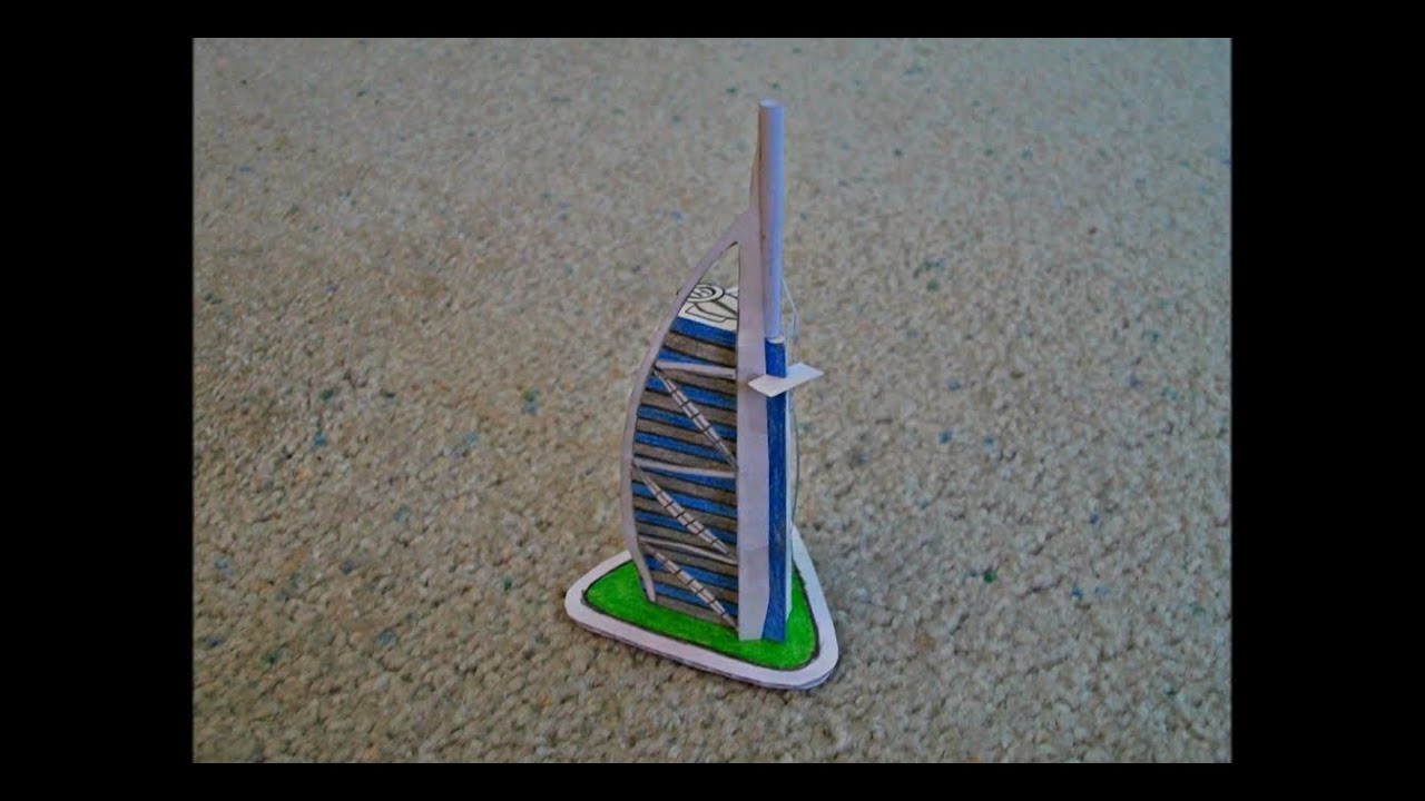Papercraft Paper Model of the Burj Al Arab Luxury Hotel