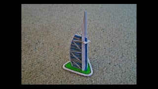 Paper Model of the Burj Al Arab Luxury Hotel
