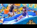 Indoor Playground Plastic Ball Games Fun For Kids with Slides and Trampoline - ZMTW