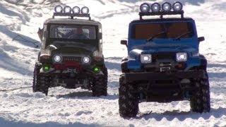 Repeat youtube video Tamiya CC-01 Jeep Wrangler Snow Mountain Challenge